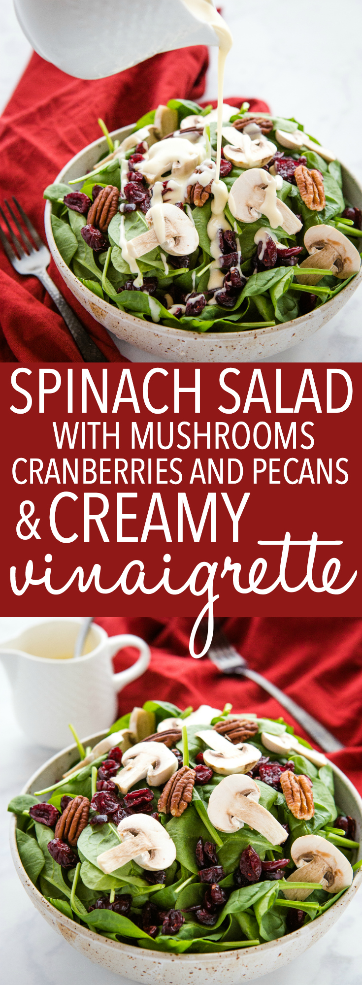 Spinach Salad With Creamy Vinaigrette The Busy Baker
