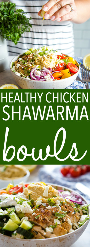 Low Carb Chicken Shawarma Bowls Pinterest