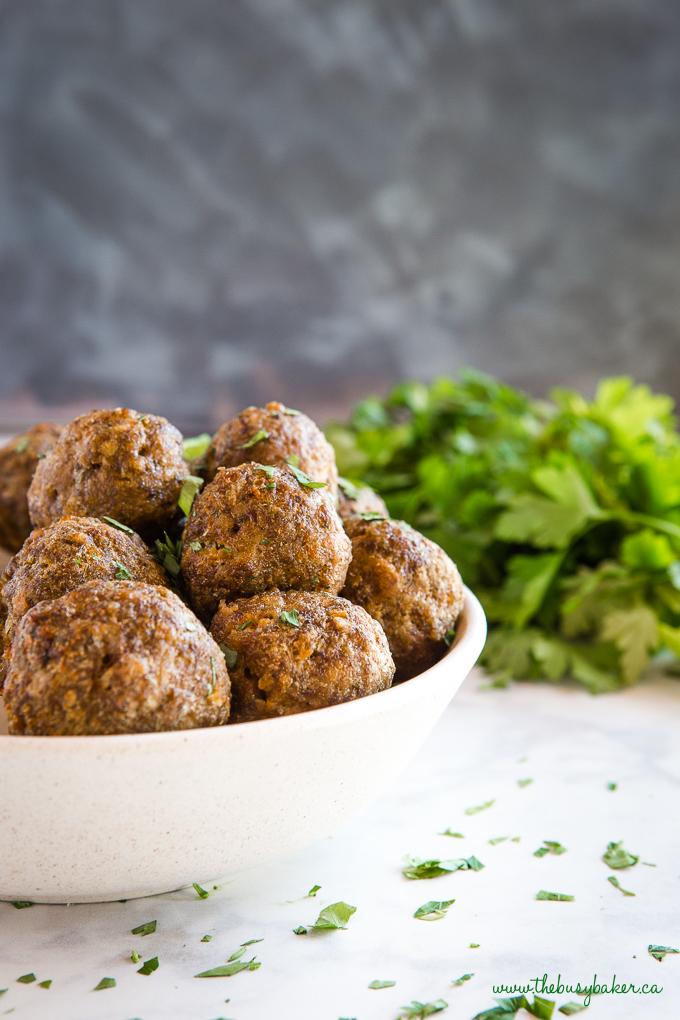 meatballs in bowl
