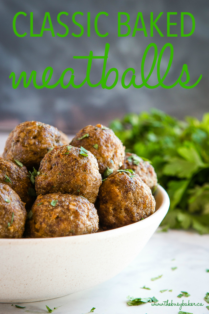 Classic Baked Meatballs