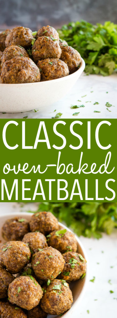 classic oven baked meatballs pinterest