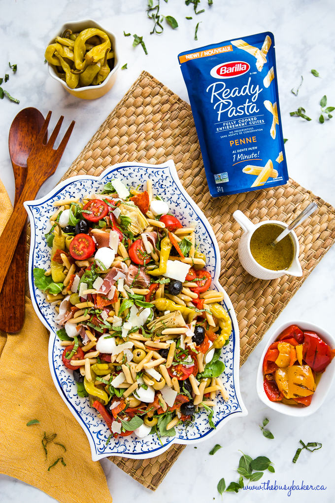 pasta salad with banana peppers and Italian dressing