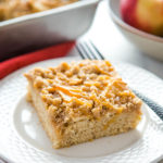 Caramel Apple Streusel Cake