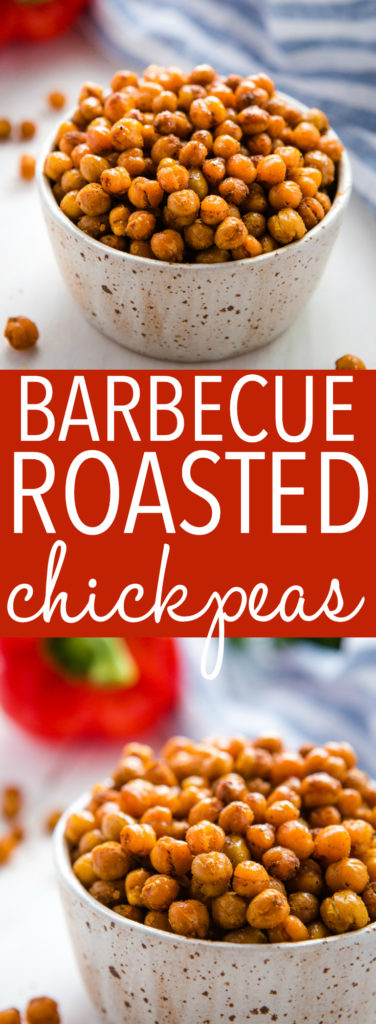 barbecue roasted chickpeas pinterest