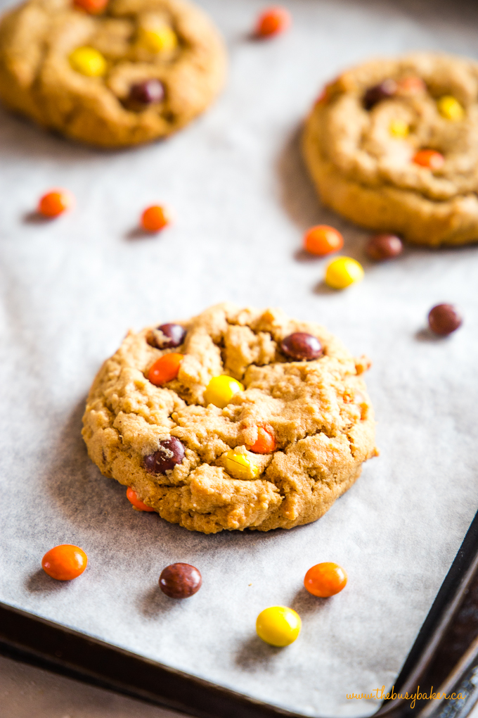 Best Ever Peanut Butter Cookies on cookie sheet