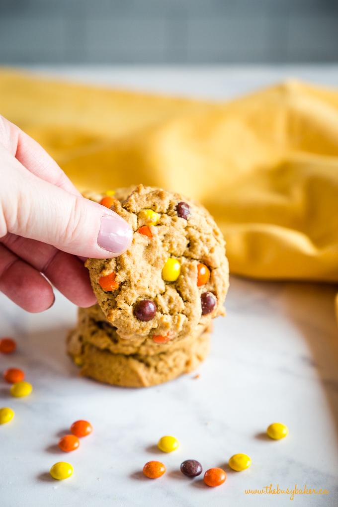 Best Ever Peanut Butter Cookies in hand