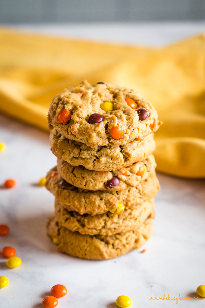 Best Ever Peanut Butter Cookies in stack