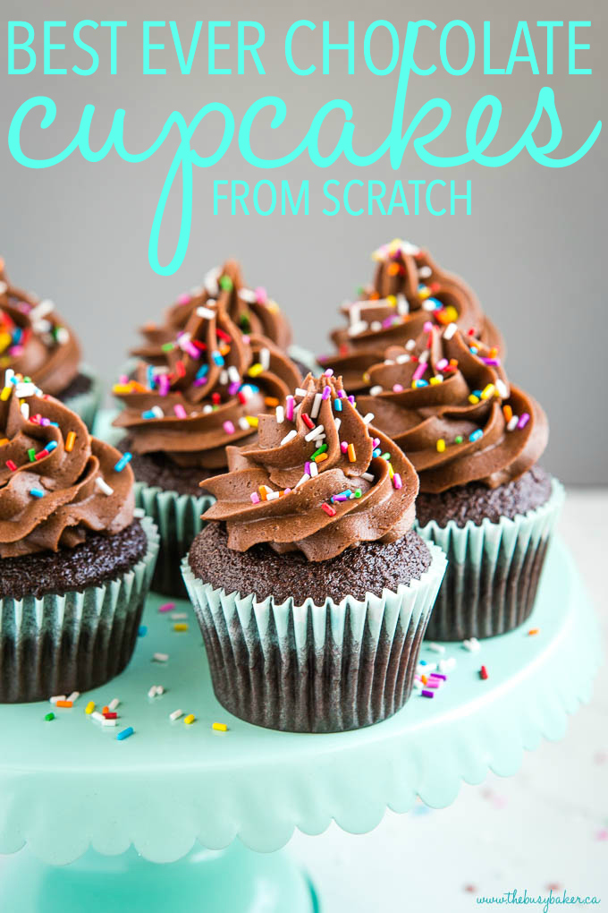 titled photo (and shown) best ever chocolate cupcakes from scratch