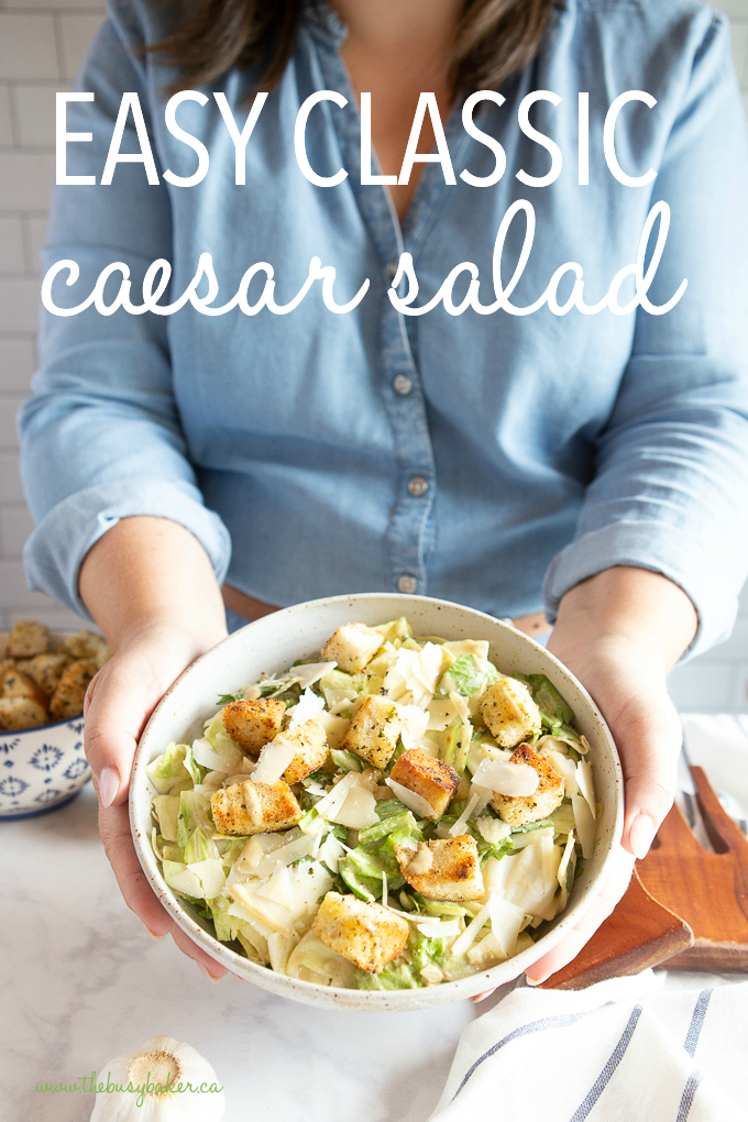 titled photo (and shown): Easy Caesar Salad Recipe