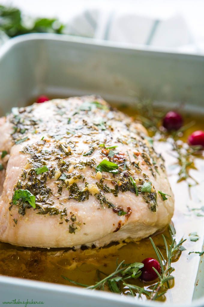 whole garlic herb roast turkey breast