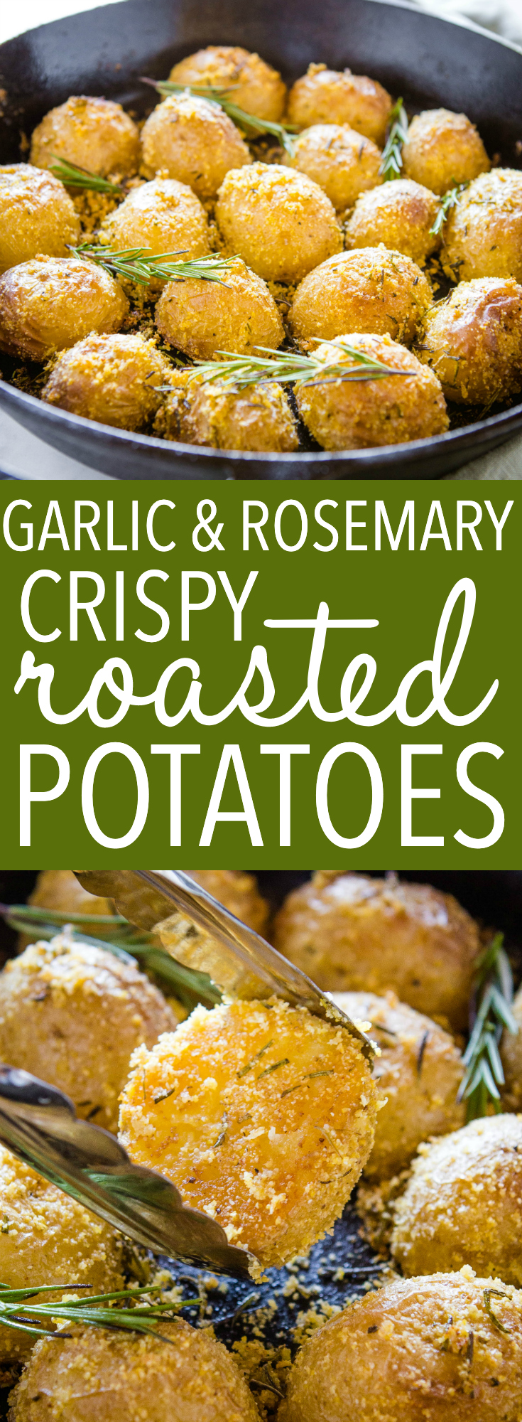 crispy rosemary roasted potatoes pinterest
