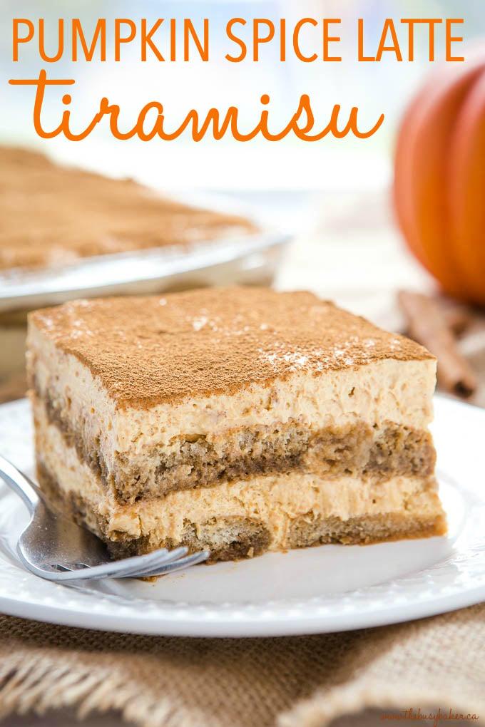 titled photo (and shown) No Bake Pumpkin Spice Latte Tiramisu