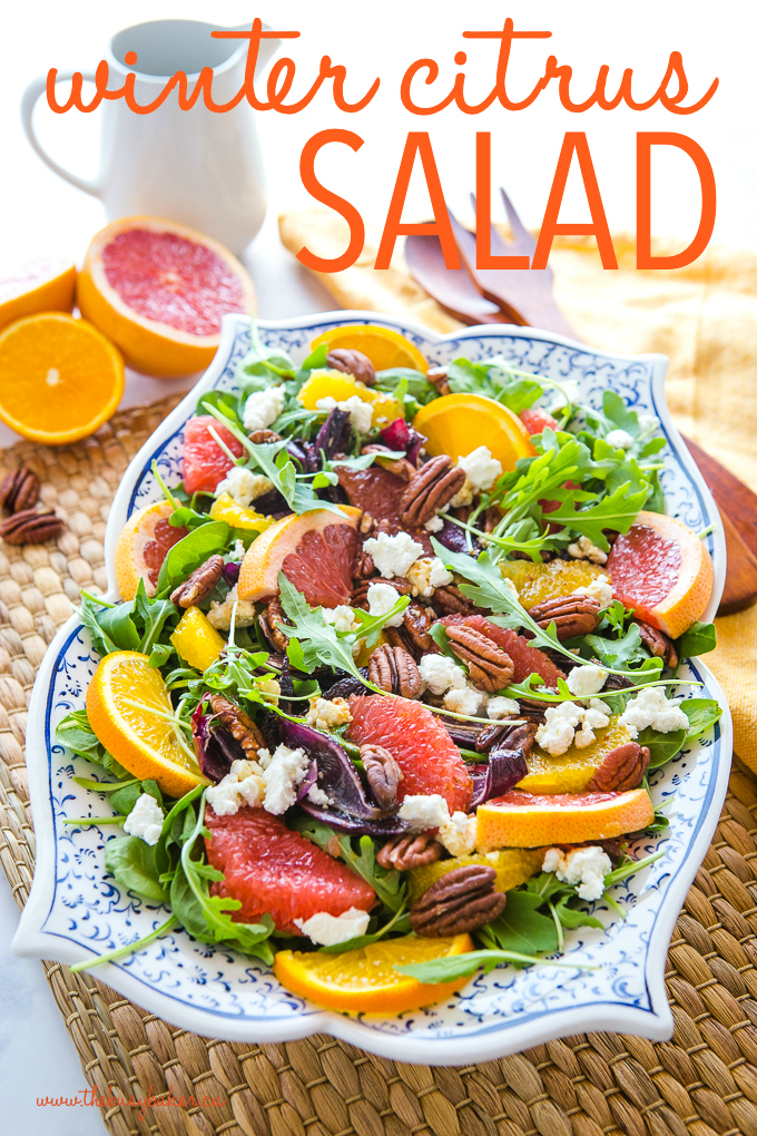 healthy winter citrus salad