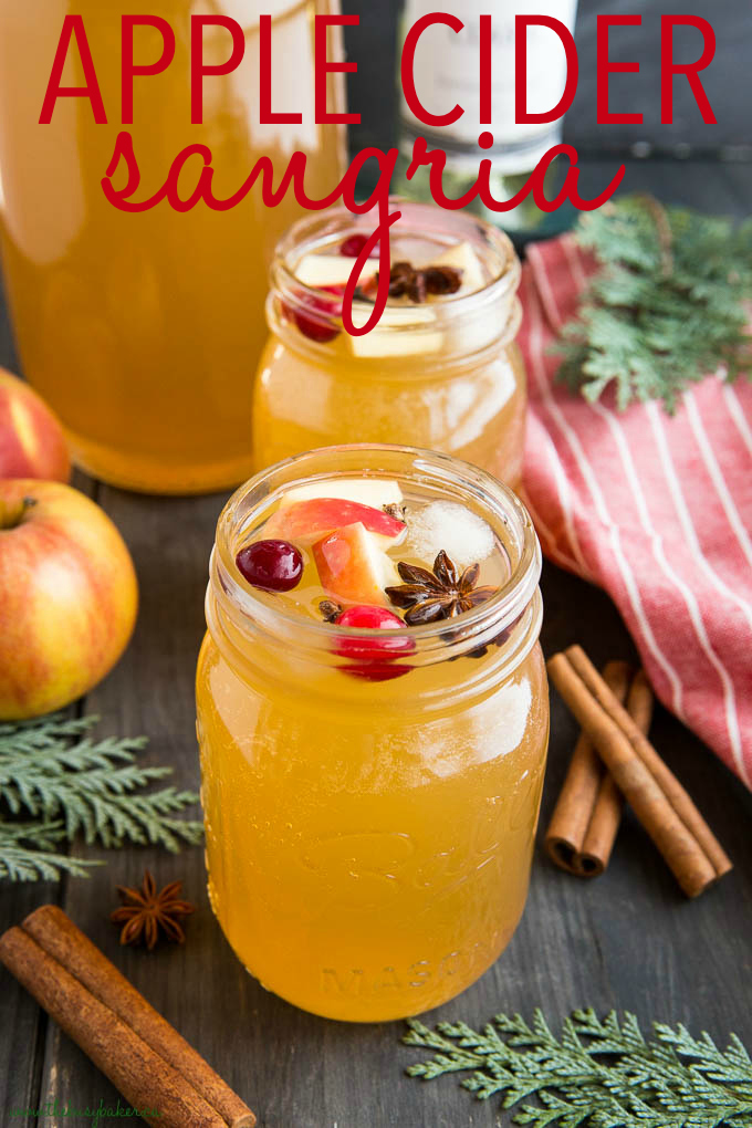 holiday apple cider sangria