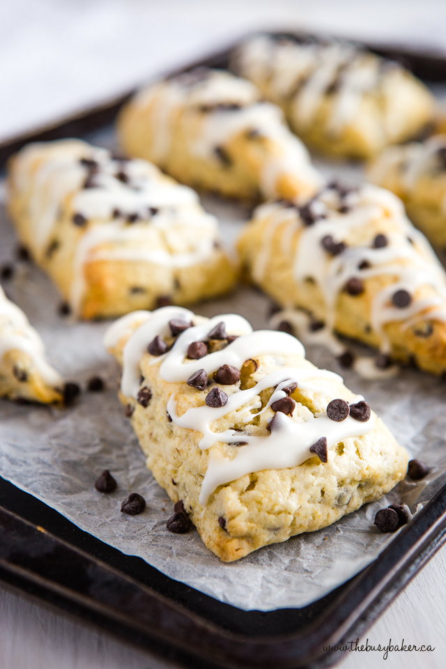 easy to make chocolate chip scones