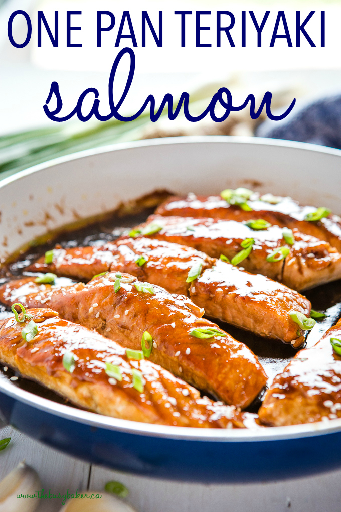 titled photo (and shown) One Pan Teriyaki Salmon