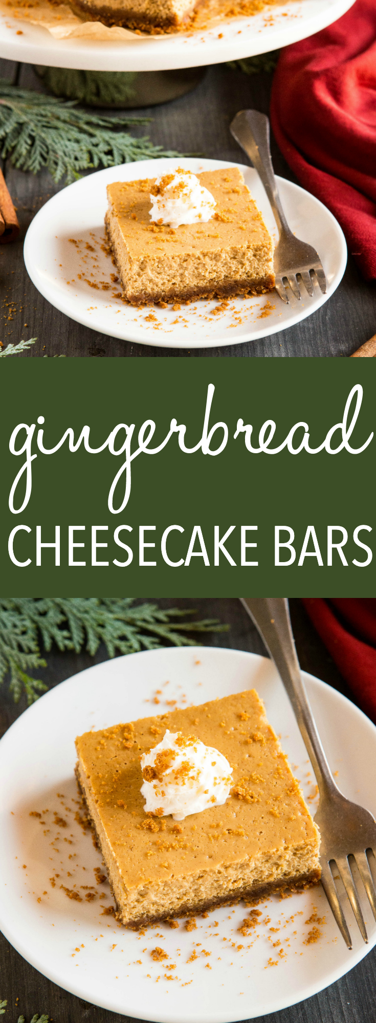 gingerbread cheesecake bars pinterest