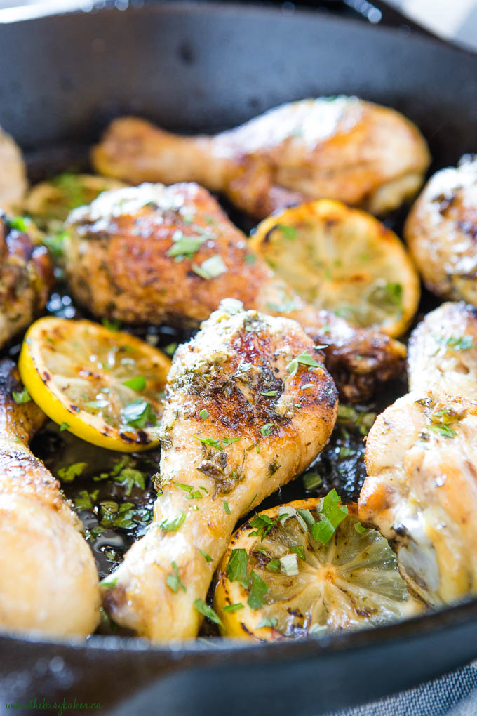 lemon herb roasted chicken with fresh herbs