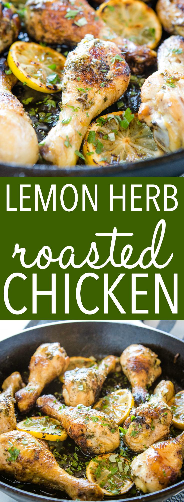 easy lemon herb roasted chicken pinterest