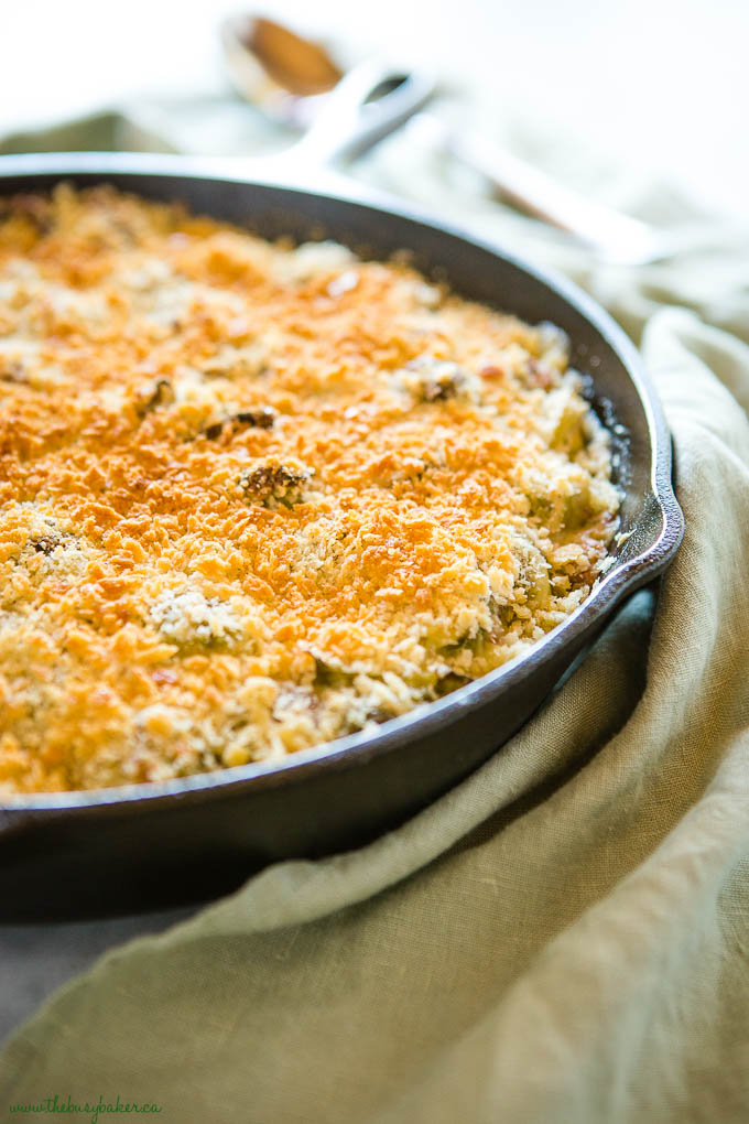 Brussels Sprouts Gratin with Bacon