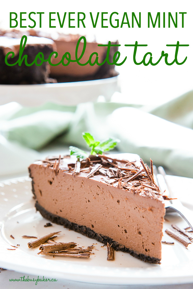 chocolate tart with peppermint