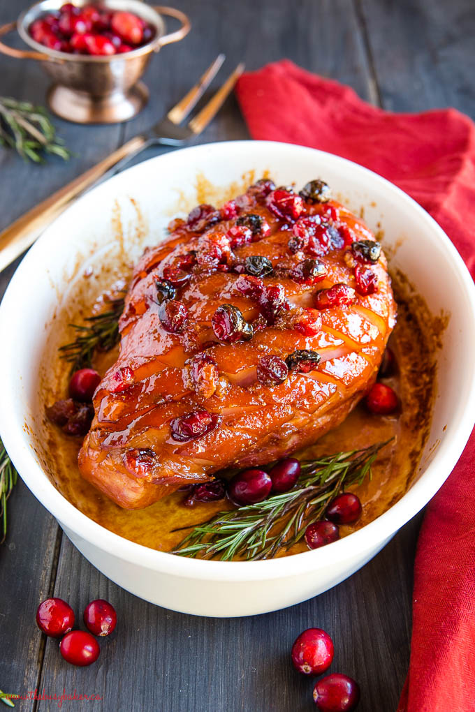 cranberry maple glazed ham
