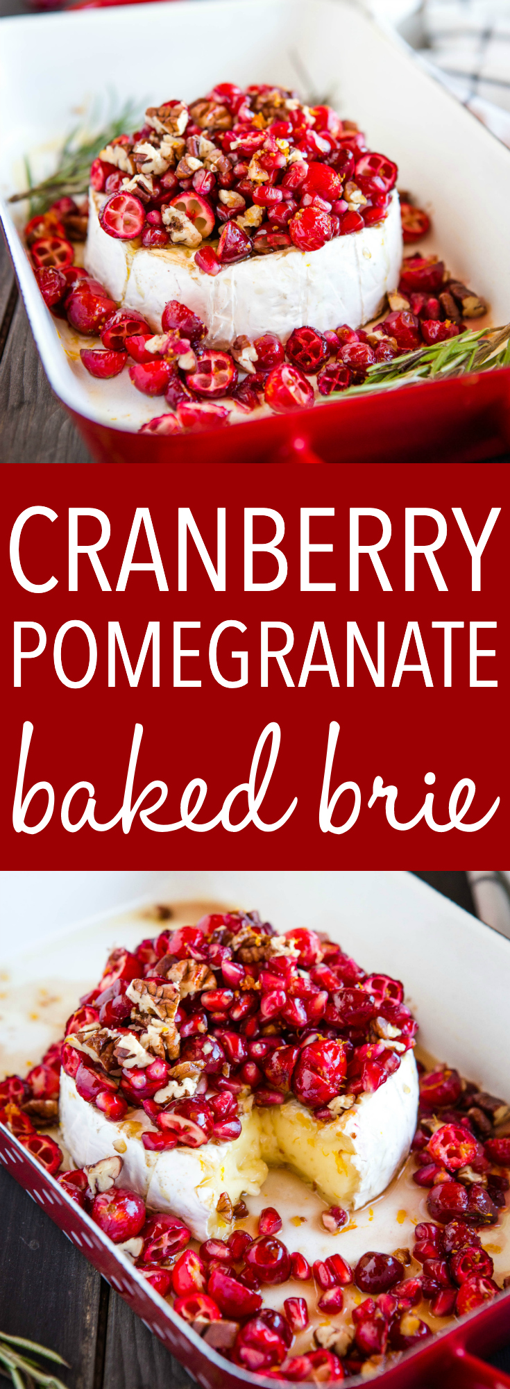 cranberry pomegranate baked brie appetizer pinterest