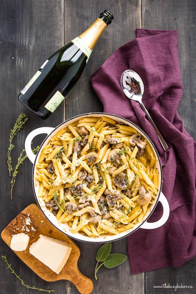 Creamy Champagne Mushroom Pasta