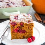 Easy Pumpkin Cranberry Cake