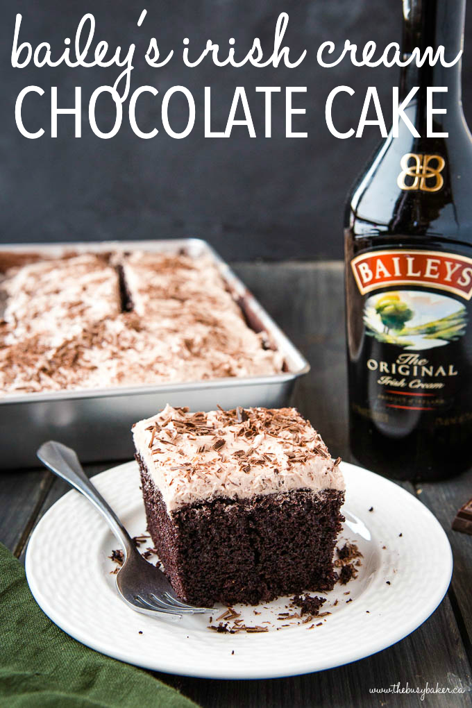 titled photo (and shown): Bailey's Irish Cream Chocolate Cake