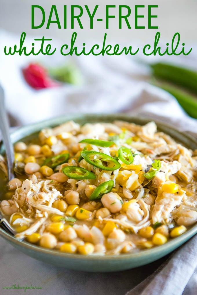dairy-free white chicken chili