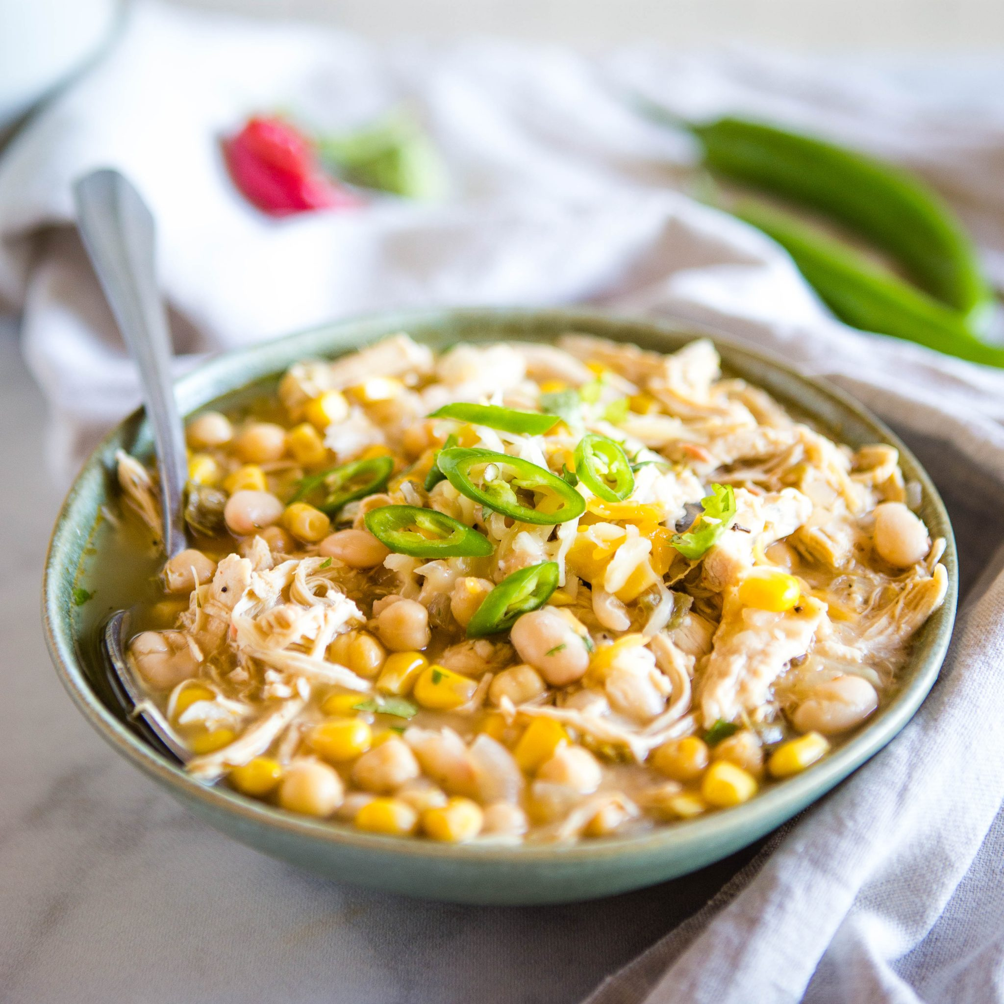 Dairy Free White Chicken Chili Easy Chili Recipe The Busy Baker