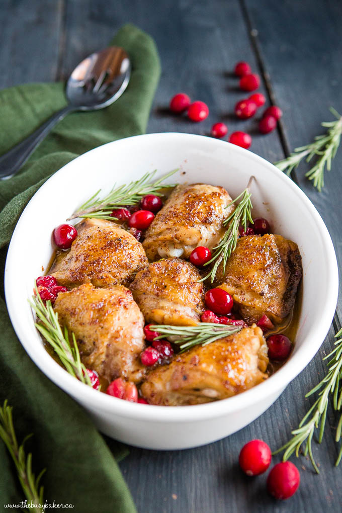 Maple Cranberry Roast Chicken