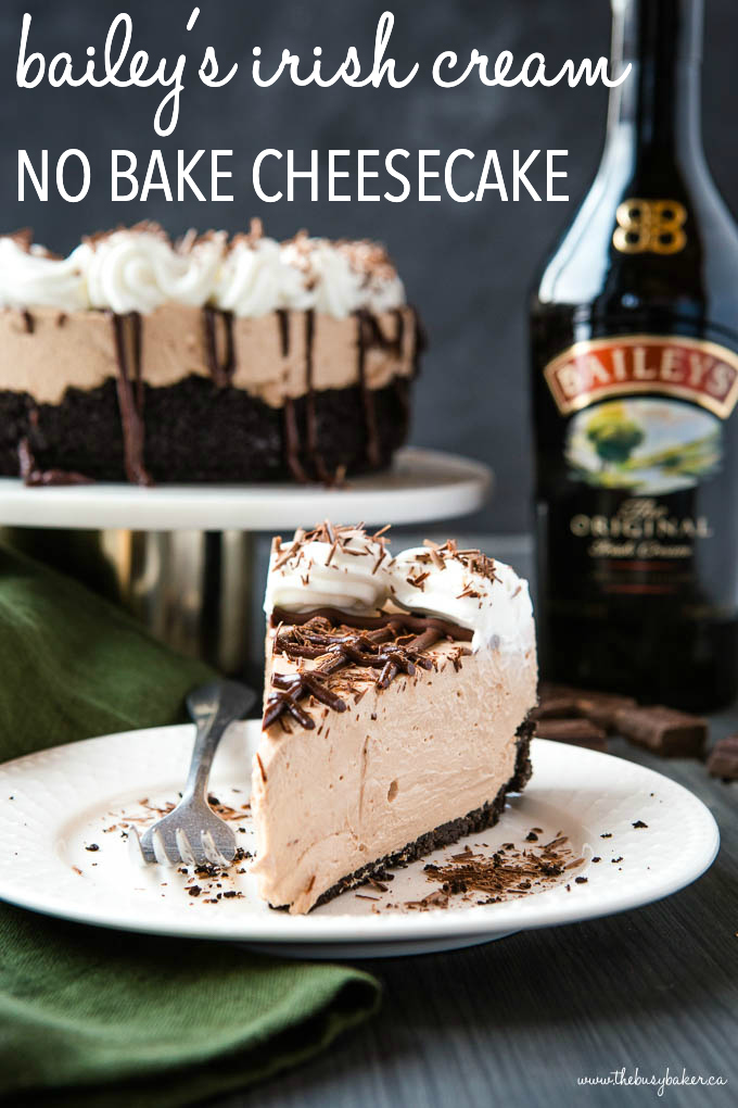 Bailey's Irish Cream No Bake Cheesecake