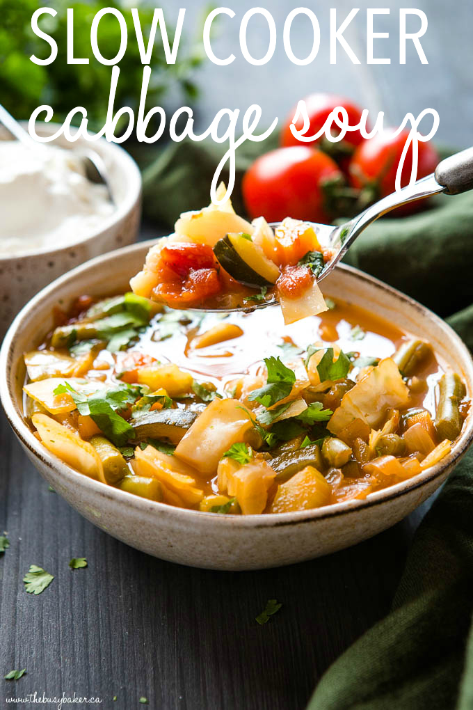 slow cooker cabbage soup