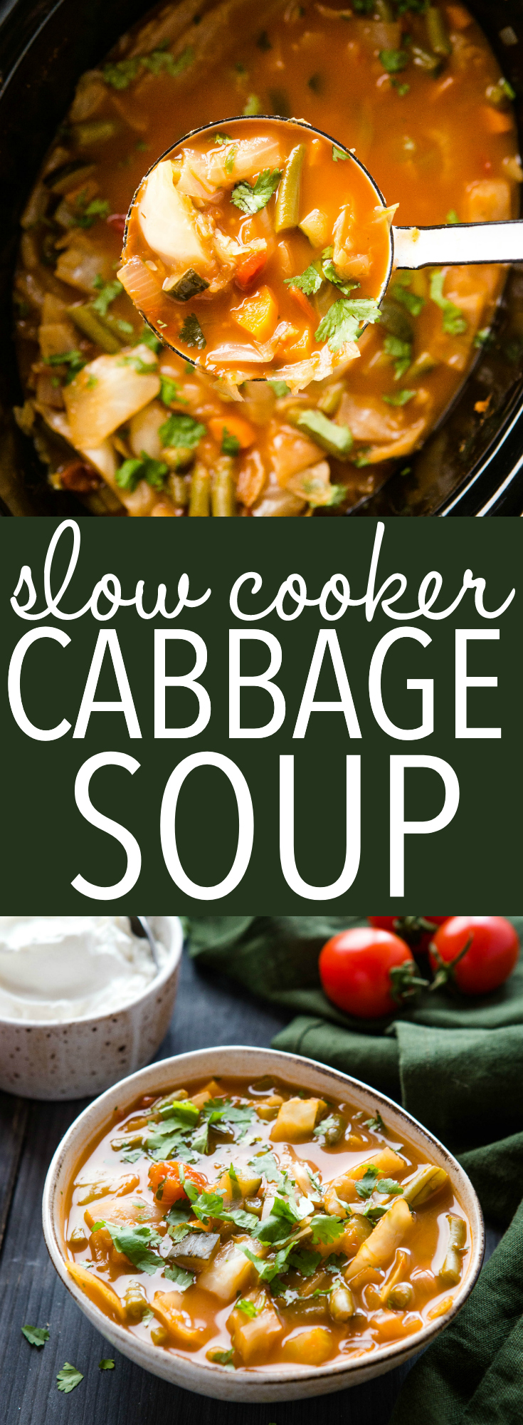 Crock Pot Cabbage Soup is the perfect healthy meal that's low carb and low in calories, but high in flavour! Make this keto soup recipe in your slow cooker for easy meal prep! Recipe from thebusybaker.ca - #cabbagesoup #ketosoup #lowcarbsoup #cabbagerecipe #slowcooker via @busybakerblog