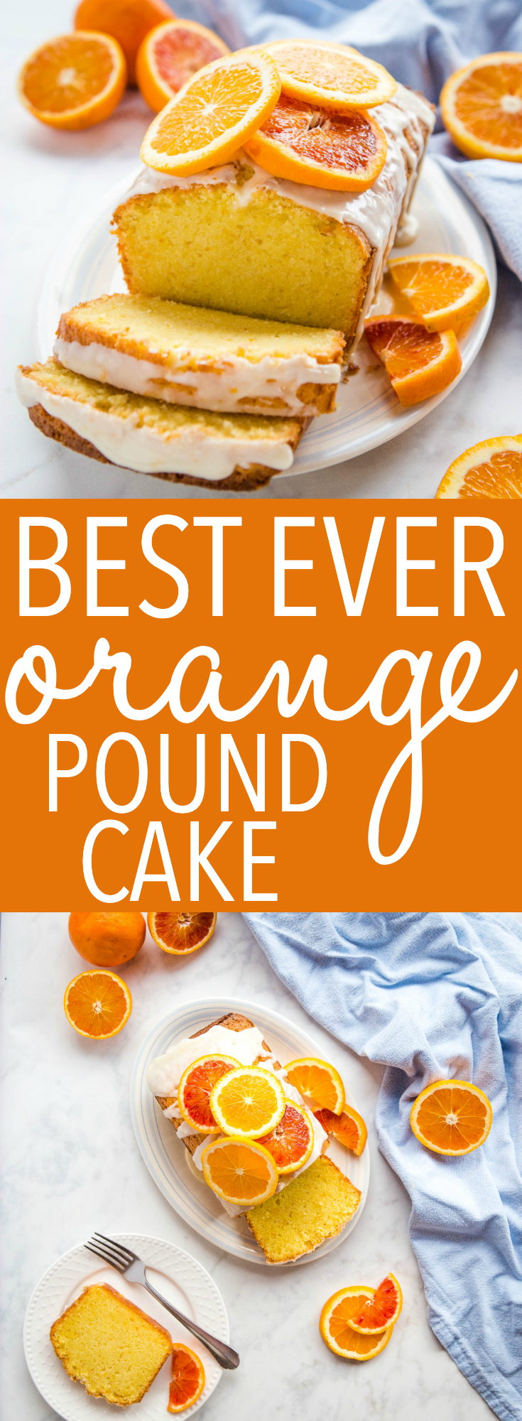 Orange Sour Cream Pound Cake is a perfectly simple, easy-to-make dessert. Use fresh oranges when you make this citrus glaze pound cake recipe! Recipe from thebusybaker.ca! #citrus #orange #poundcake #easycake #bloodorange #glaze #citrusglaze #frosting via @busybakerblog