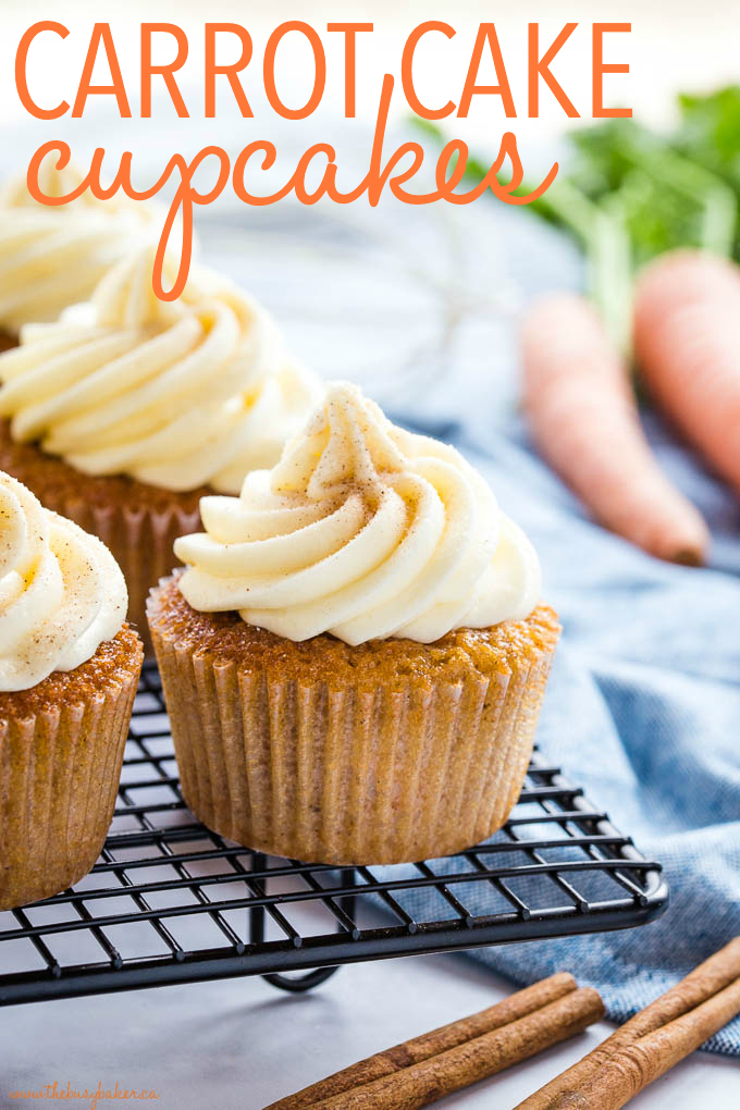 Best Ever Carrot Cake Cupcakes with Cream Cheese Frosting