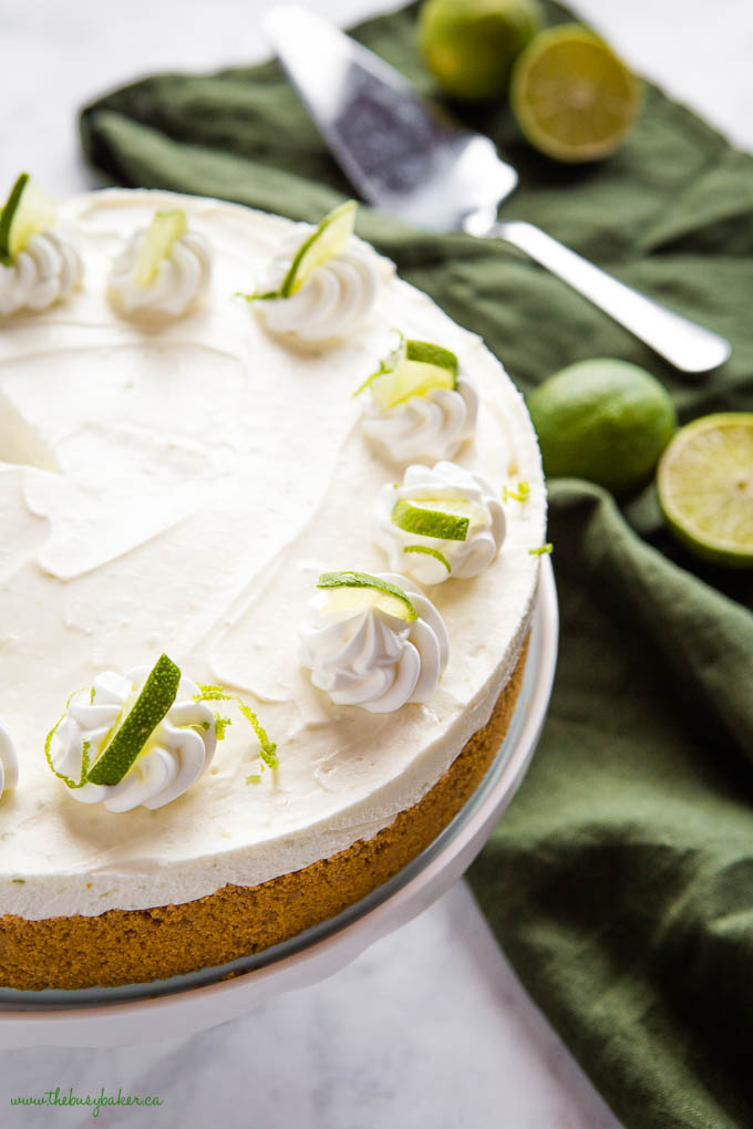 key lime cheesecake with limes