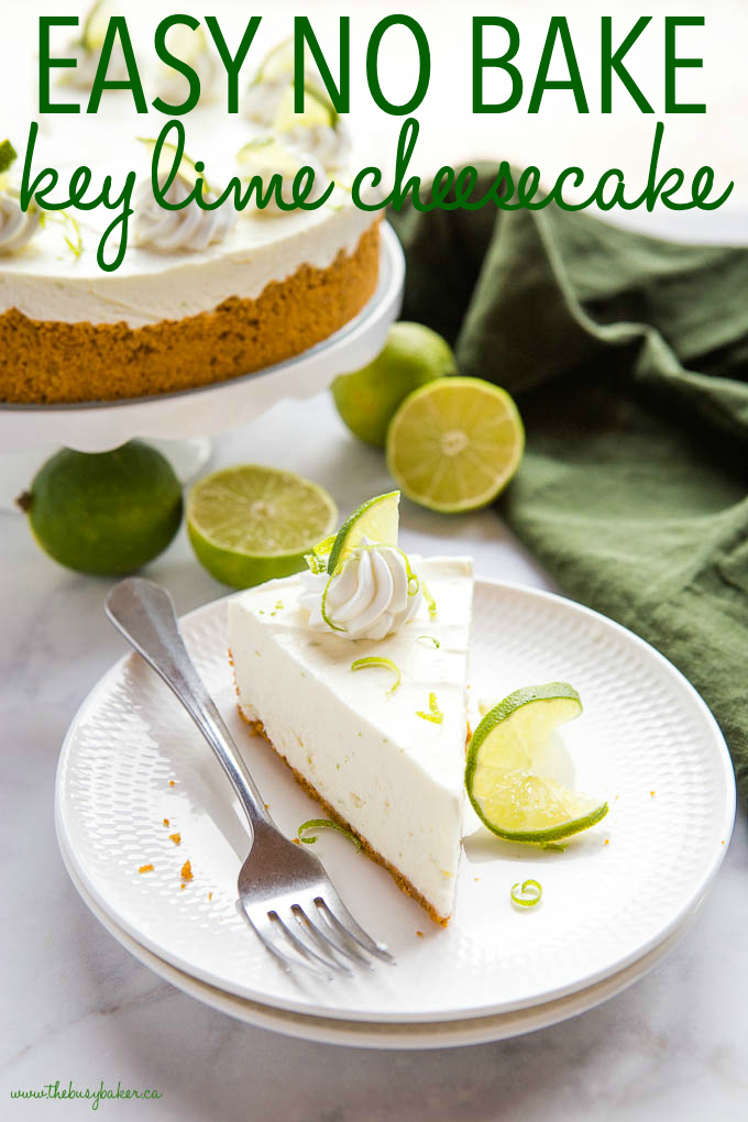 Easy No Bake Key Lime Cheesecake The Busy Baker