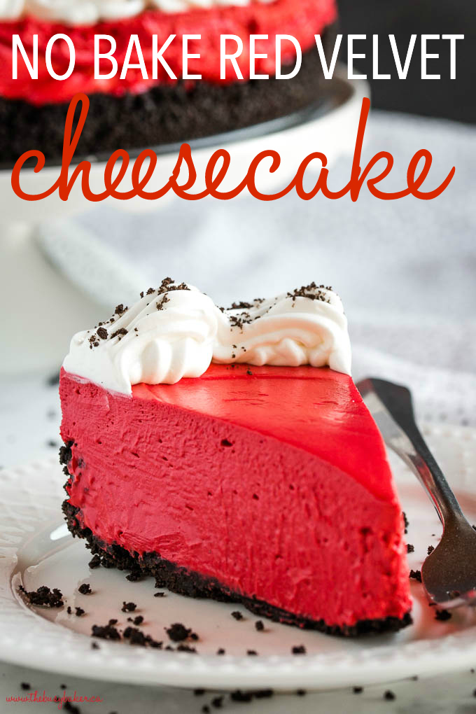 easy no bake red velvet cheesecake