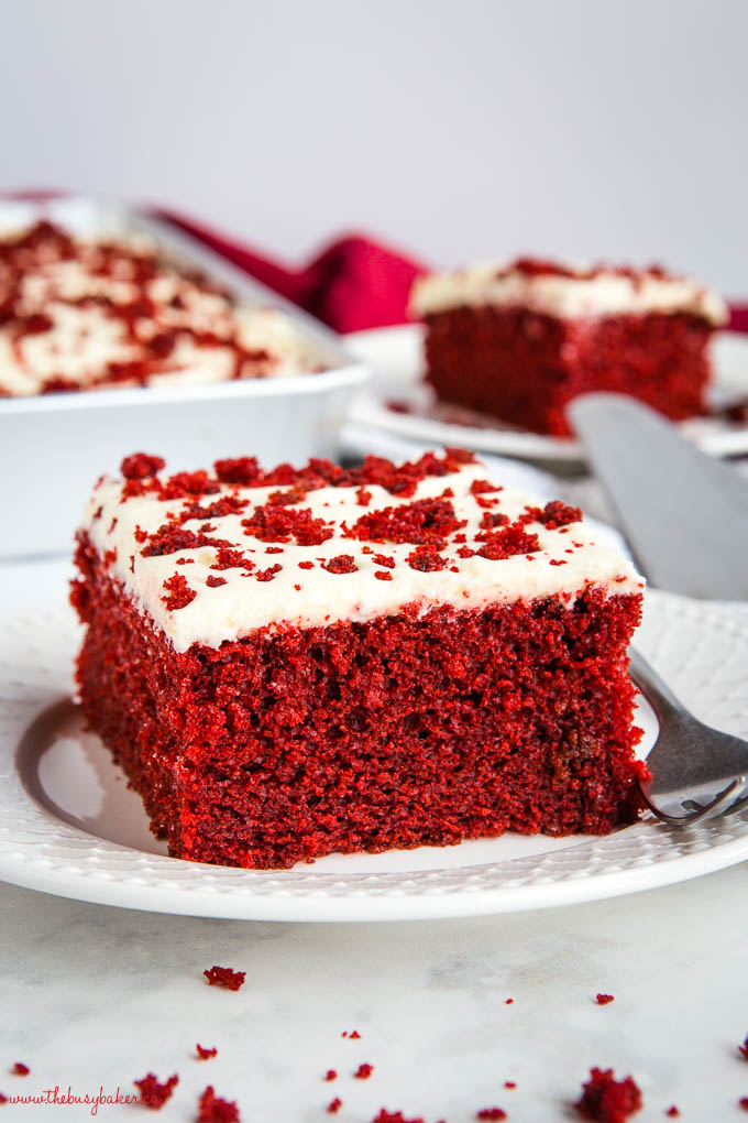red velvet cake on white plate
