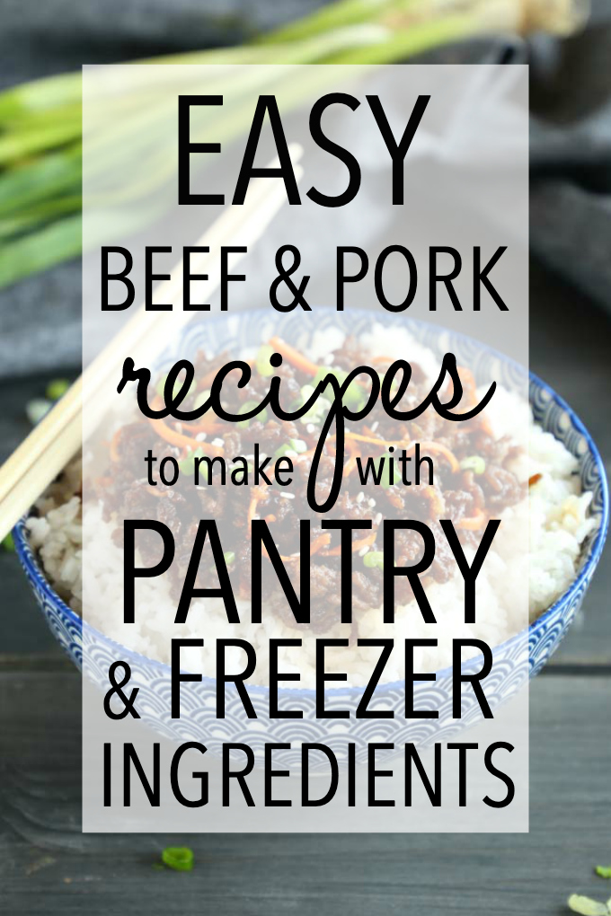 easy pork and beef recipes