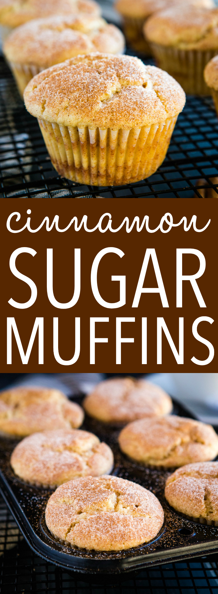 These Cinnamon Sugar Muffins are the perfect sweet treat for coffee break, breakfast or brunch. A soft tender muffin with swirls of cinnamon sugar! Recipe from thebusybaker.ca! #muffins #cinnamon #sugar #sweet #breakfast #brunch #snack #coffee #coffeebreak #coffeeshop #coffeecake #cinnamonsugar #treat via @busybakerblog