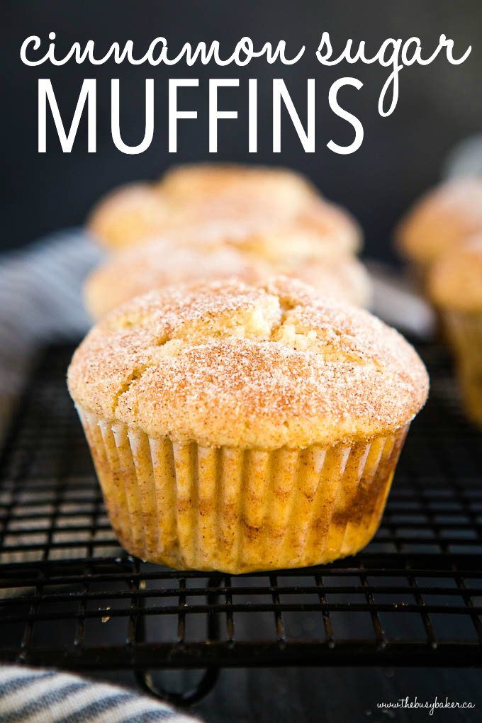 titled photo (and shown) cinnamon sugar muffins