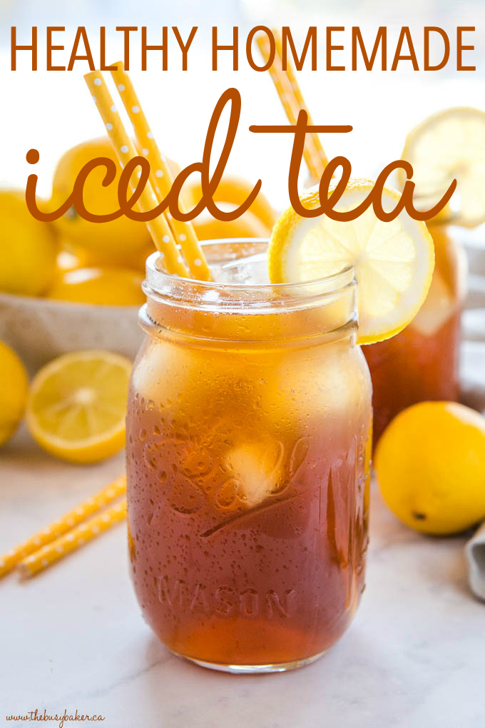 Healthy Homemade Iced Tea Refined Sugar Free