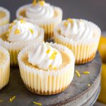 Easy Mini Lemon Cheesecakes
