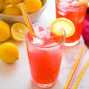 homemade version of Starbucks passion tea lemonade