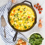 Easy Skillet Tomato Spinach Frittata