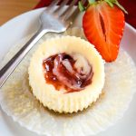 Easy Mini Strawberry Swirl Cheesecakes
